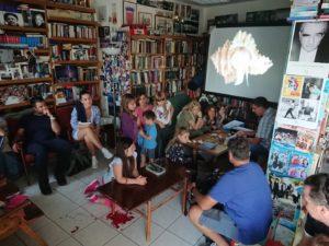 Radionica za djecu u Hrvatskoj knjižnici i čitaonici Sali (voditelji: Alen Petani i Đani Iglić)