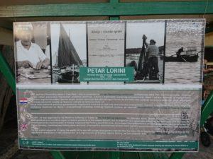Info-tabla o Petru Loriniju – učitelju i stručnjaku za morsko ribarstvo